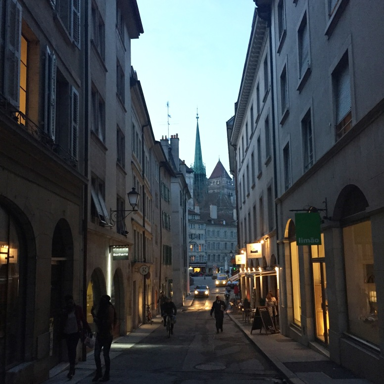 The rich streets of beautiful Geneva